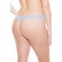Baby Blue Floral Lace Thong
